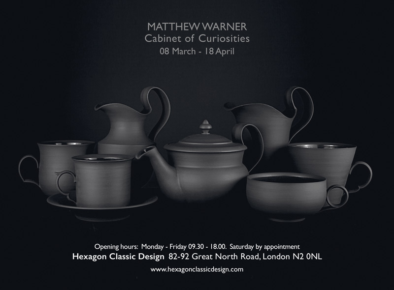 Matthew Warner - Cabinet of Curiosities - 08 March - 18 April - Opening hours:  08 March - 18 April,  Monday - Friday 09.30 - 18.00.  Saturday by appointment - Hexagon Classic Design 82-92 Great North Road, London N2 0NL